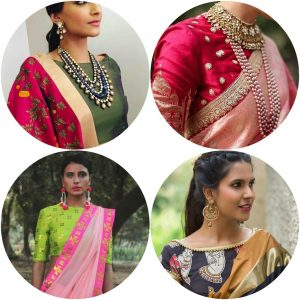 Top 10 saree blouse designs, Best Saree Blouse Designs 2017, Must Have Saree Blouse designs, cold shoulder blouses, cape style saree blouses, bell sleeves saree blouses, back neckline saree blouse designs, blouse designs to choose,