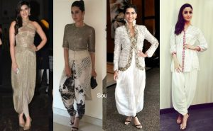 Top Bollywood Dhoti Indo Western Dresses trends