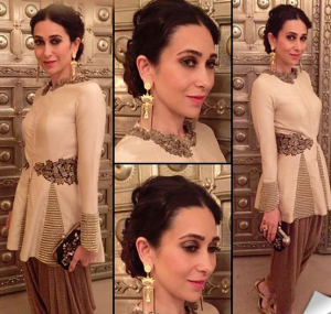 Karishma Kapoor in Dhoti indo western dresses, bollywood actresses in indo western, actresses in dhoti style outfits, best dressed actress in dhoti indo western dress