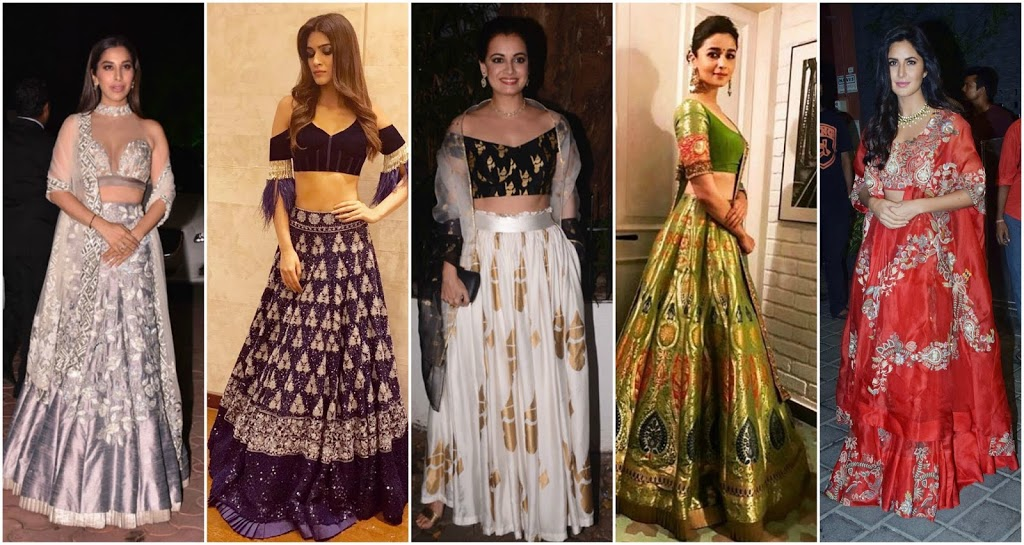 Top Lehenga Choli Trends from Celebs at Diwali Party 2017