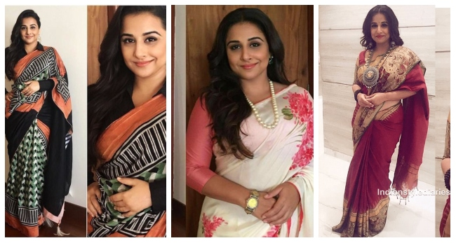 Top 40 Vidya Balan Saree Looks – Saree Inspiration for Plus Size Women