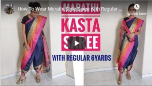 How to wear a Kashta Saree with Regular Saree Length