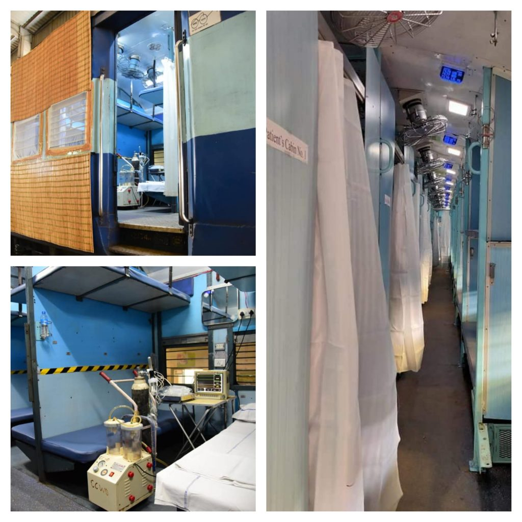 indian trains made to isolation wards