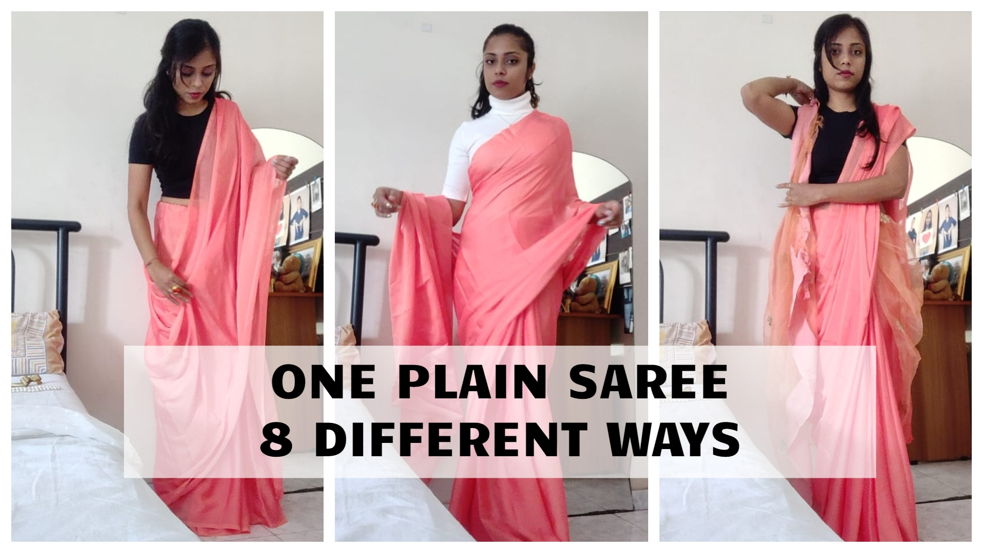You are currently viewing Saree wearing styles – 1 Saree in 10 Ways for Wedding Party