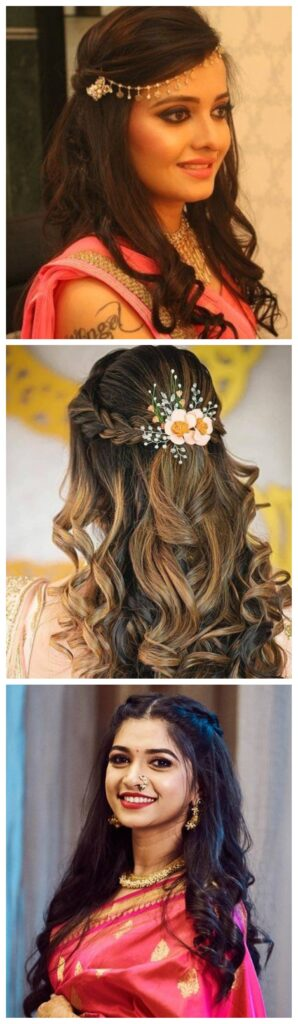 hair updo hairstyles with saree